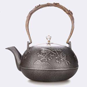 Tetera de hierro estilo japonés hecho a mano