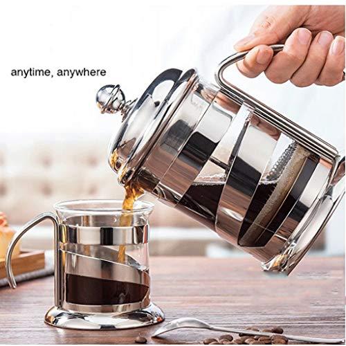 ☕ Cafetera Francesa de presión Caldera de Cristal Resistente al Calor Presión de la Mano Cafetera Tetera Filtro de presión Olla | 2020