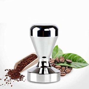 /Ø 58mm Amazy Cafe Tamper Prensador de cafe de acero inoxidable y madera natural para disfrutar un caf/é de calidad